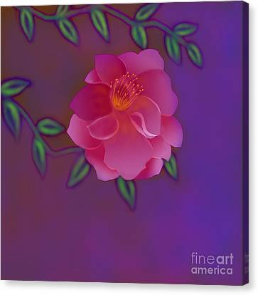 Canvas Print featuring the digital art Fragrance by Latha Gokuldas Panicker