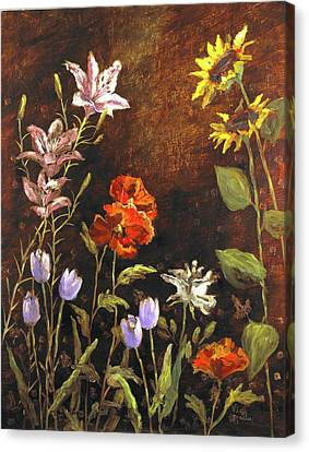 Fragrant Garden Canvas Print by Vic  Mastis
