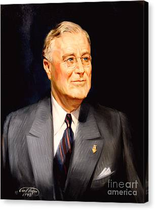 Frainklin Delano Roosevelt Canvas Print by Art By Tolpo Collection