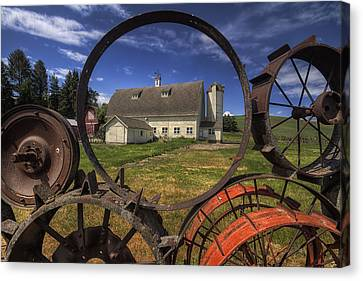 Framed By Wheels  Canvas Print by Mark Kiver