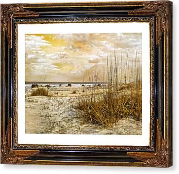 Framed Dunes Canvas Print by Betsy C Knapp