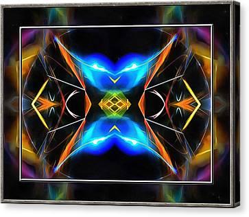 Framed Electric Blue Canvas Print by Mario Carini