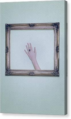 Framed Hand Canvas Print by Joana Kruse