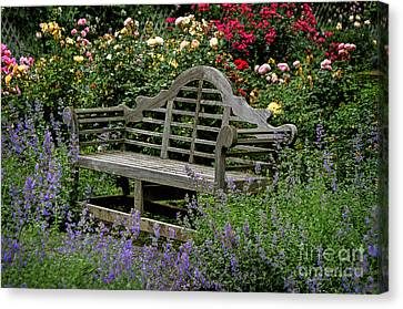 Canvas Print featuring the photograph Framed In Flowers by Vicki DeVico