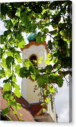 Canvas Print featuring the photograph Framed Steeple by KG Thienemann