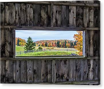 Framed-autumn In Vermont Canvas Print
