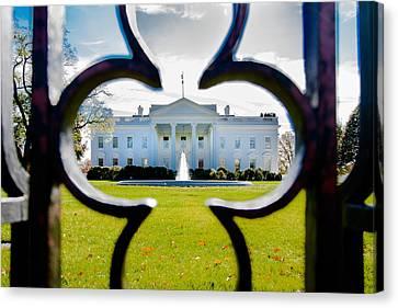 Framed Whitehouse Canvas Print