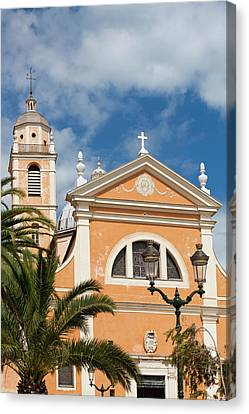 France, Corsica, Ajaccio, The Cathedral Canvas Print by Walter Bibikow