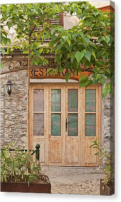France, Corsica, Corte, Place Gaffori Canvas Print by Walter Bibikow
