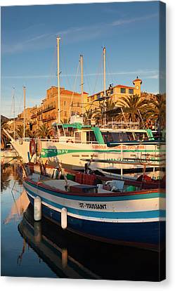France, Corsica, Propriano, Town Canvas Print by Walter Bibikow