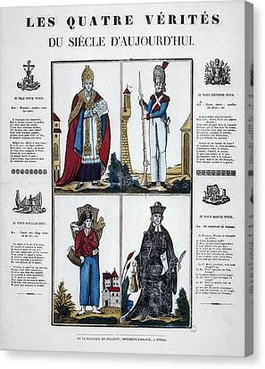 France Four Truths, C1825 Canvas Print by Granger