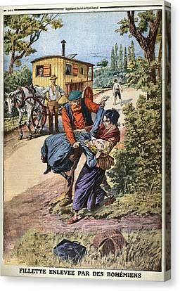 France Gypsies, 1890s Canvas Print