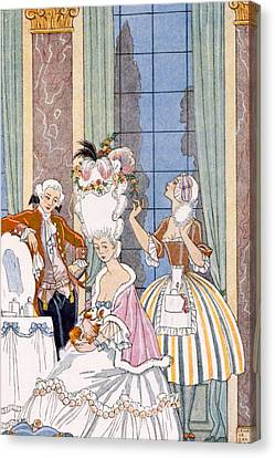 France In The 18th Century Canvas Print by Georges Barbier