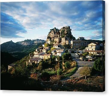 France, La Roque-alric, Vaucluse Canvas Print by David Barnes