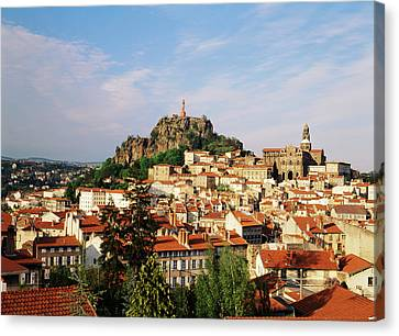 Statue Of David Canvas Print - France, Le Puy, Haute Loire, Cathedral by David Barnes