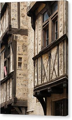 France, Normandy, Bayeux, Rue St-martin Canvas Print by Walter Bibikow