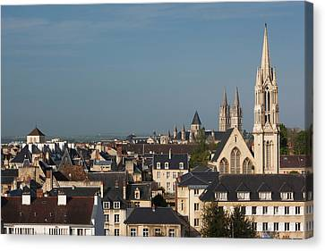 Chateau Canvas Print - France, Normandy, Caen, Elevated City by Walter Bibikow