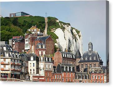 France, Normandy, Le Treport, Town View Canvas Print by Walter Bibikow