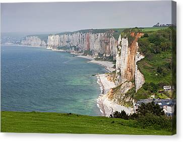 France, Normandy, Yport, Town Canvas Print by Walter Bibikow