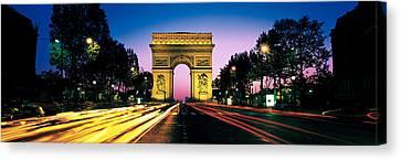 France, Paris, Arc De Triomphe Canvas Print
