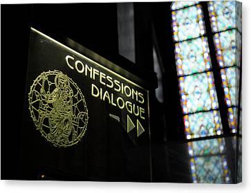 France, Paris Confessions Dialogue Canvas Print