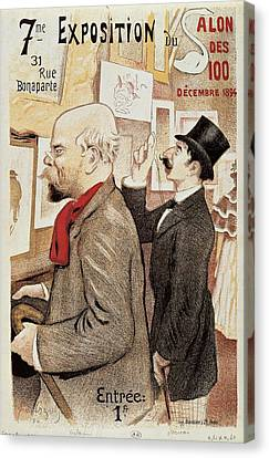 France Paris Poster Of Paul Verlaine And Jean Moreas Canvas Print by Anonymous
