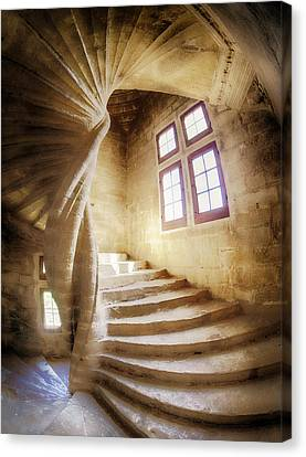 Spiral Staircase Canvas Print - France, Provence, Lourmarin, Spiral by Terry Eggers