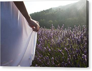 Openair Canvas Print - France, Provence. Woman In Lavender by Tips Images