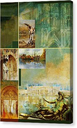 France Unesco World Heritage Poster Canvas Print by Catf