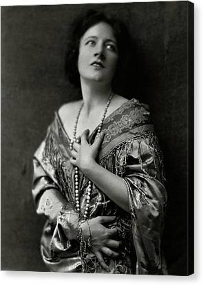Frances Starr Wearing A Satin Dress Canvas Print