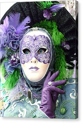 Canvas Print featuring the photograph Francine's Purple Glove by Donna Corless