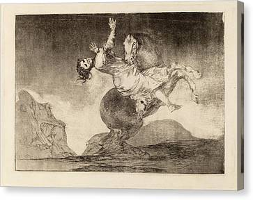 Raptor Canvas Print - Francisco De Goya, El Caballo Raptor The Horse-abductor by Quint Lox
