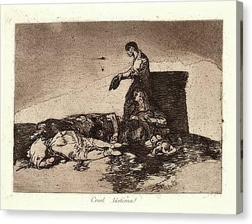Francisco De Goya Spanish, 1746-1828. Cruel Tale Of Woe Canvas Print by Litz Collection