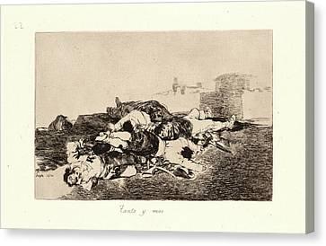 Francisco De Goya Spanish, 1746-1828. Even Worse Tanto Y Mas Canvas Print by Litz Collection