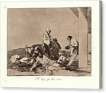 Francisco De Goya Spanish, 1746-1828. Its No Use Crying Canvas Print