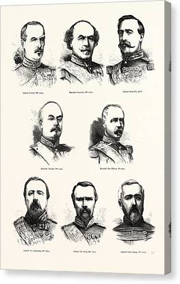 3rd Corps Canvas Print - Franco-prussian War French Commanders General Frossard, 2nd by French School
