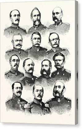 3rd Corps Canvas Print - Franco-prussian War German Commanders Alvensleben by French School