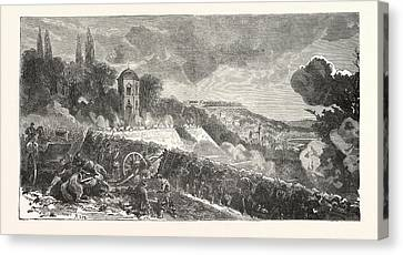 Franco-prussian War Scene From The Defense Of The Park Canvas Print
