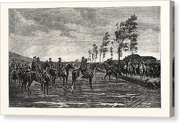 Franco-prussian War Surrender Of Metz To Prince Frederick Canvas Print by French School