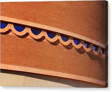 Frank Lloyd Wright Designed Auditorium Window Detail Canvas Print by Karyn Robinson