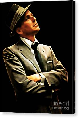 Frank Sinatra 20150125brun Canvas Print by Wingsdomain Art and Photography