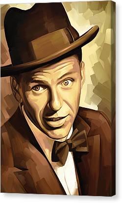 Frank Sinatra Canvas Print - Frank Sinatra Artwork 2 by Sheraz A