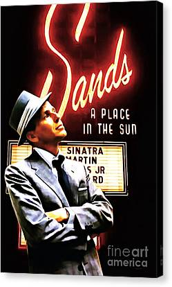 Frank Sinatra I Did It My Way 20150126brun V2 Canvas Print by Wingsdomain Art and Photography