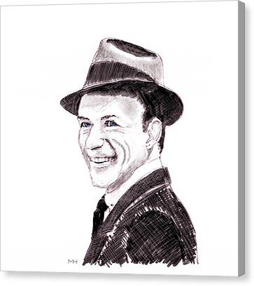 Frank Sinatra Canvas Print by Martin Howard