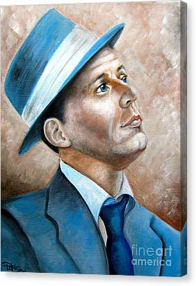 Frank Sinatra Ol Blue Eyes Canvas Print by Patrice Torrillo