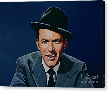 New Stage Canvas Print - Frank Sinatra by Paul Meijering