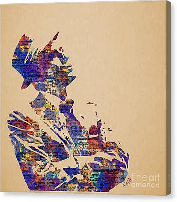 Frank Sinatra Watercolor Canvas Print