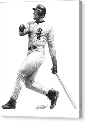 Frank Thomas Canvas Print by Harry West