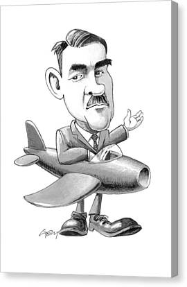Frank Whittle, Caricature Canvas Print by Science Photo Library