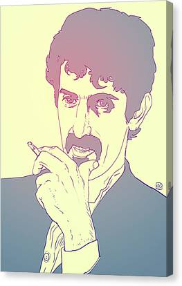 Icon Canvas Print - Frank Zappa by Giuseppe Cristiano
